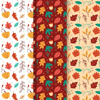 手描き秋パターンコレクション