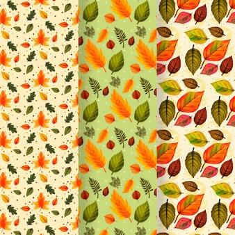 손으로 그린 가을 패턴 컬렉션