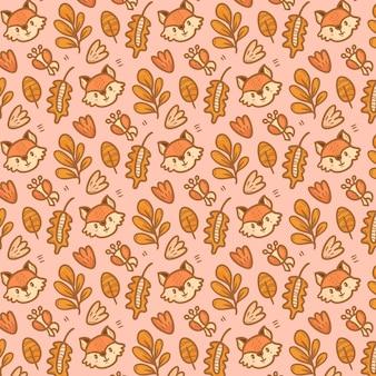 Hand drawn autumn pattern
