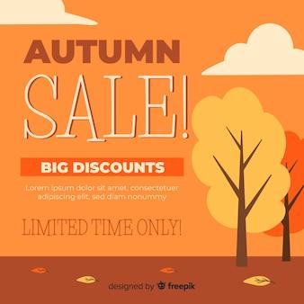 Hand drawn autumn sale banner