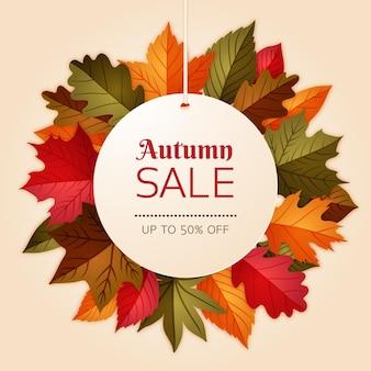 Hand drawn autumn sale concept