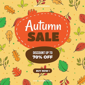 Hand drawn autumn sale special offer