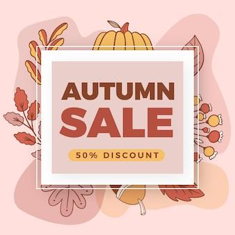 Hand drawn autumn sale