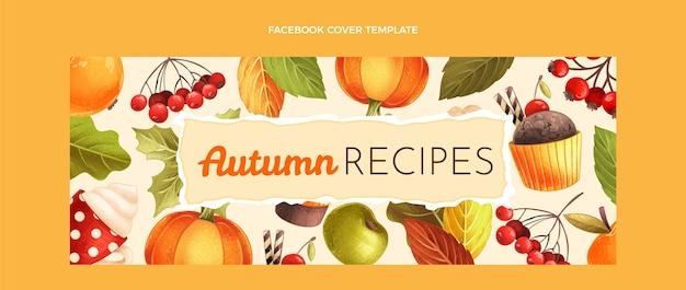 手描きの秋のソーシャルメディアカバーテンプレート