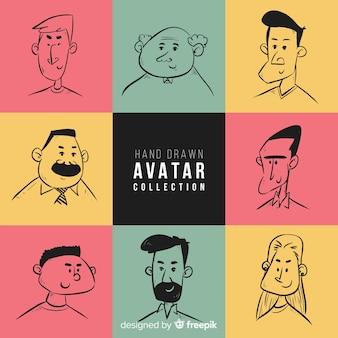 Hand drawn avatar collection