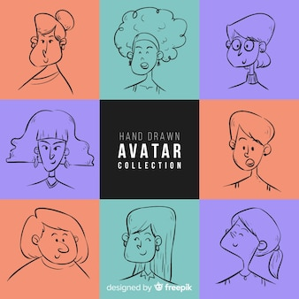 Hand drawn avatar collection