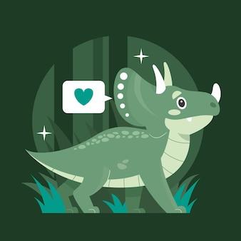 図解手描きの赤ちゃん恐竜