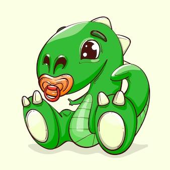 手描きの赤ちゃん恐竜