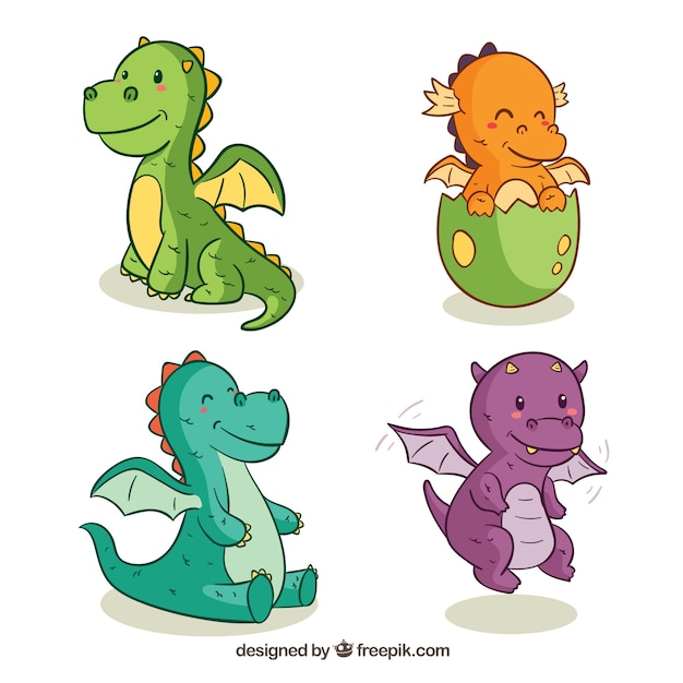 Image of: Fantasy Hand Drawn Baby Dragon Character Collectio Freepik Dragon Vectors Photos And Psd Files Free Download
