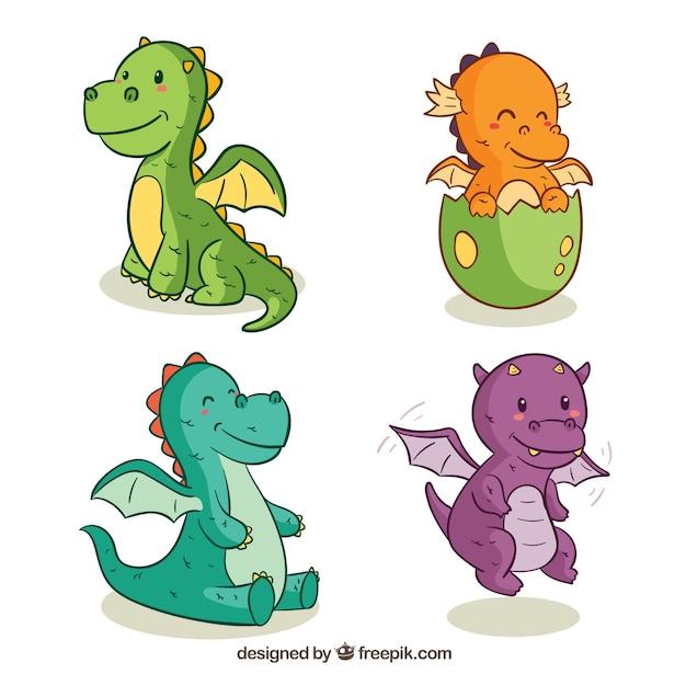 Image of: Fantasy Hand Drawn Baby Dragon Character Collectio Freepik Dragon Vectors Photos And Psd Files Free Download
