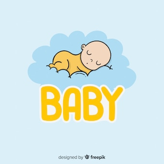 Hand drawn baby logo