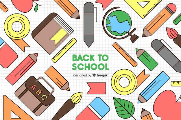 Hand drawn back to school background