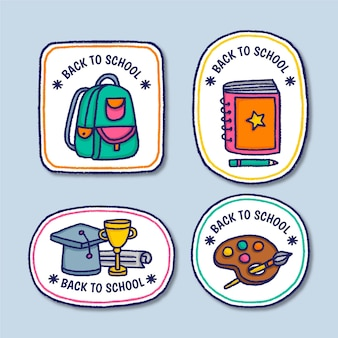 Hand drawn back to school badges
