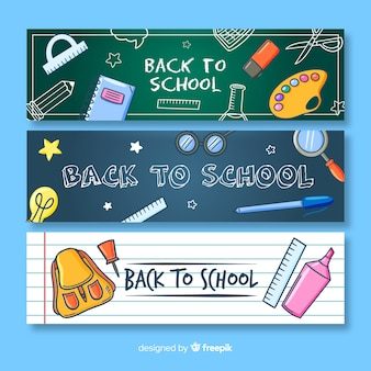 Hand drawn back to school banner