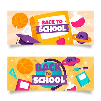 Hand drawn back to school banners