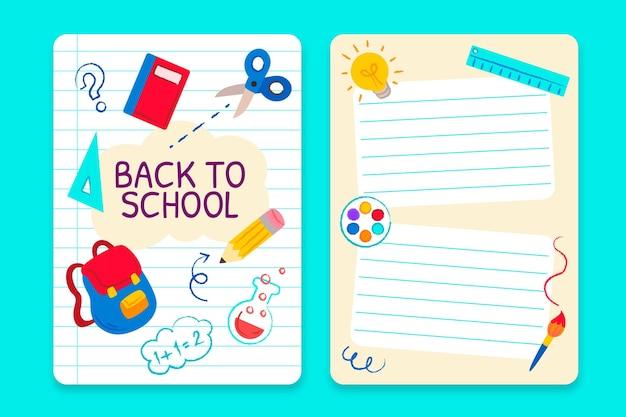 Disegnato a mano al modello di carta della scuola school