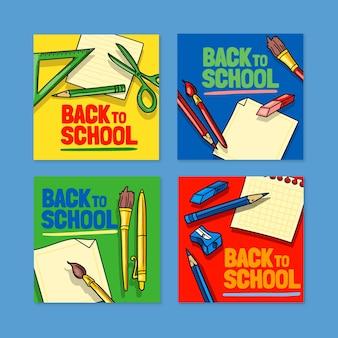 Disegnato a mano alla raccolta di post di instagram della scuola