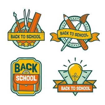 Disegnato a mano alla collezione di etichette scolastiche