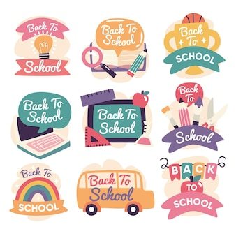 Hand drawn back to school labels