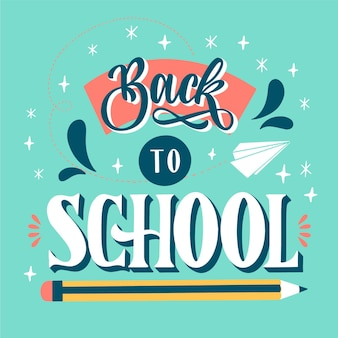 Hand drawn back to school lettering design