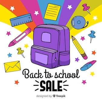 Hand drawn back to school sale