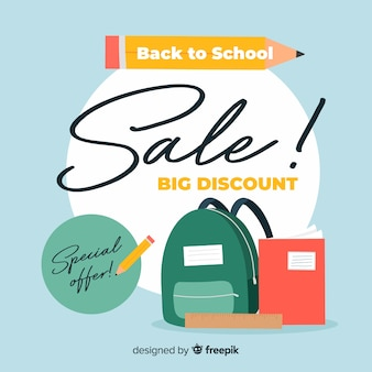 Hand drawn back to school sales background