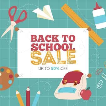 Hand drawn back to school sales concept