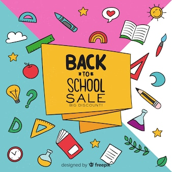 Hand drawn back to school sales