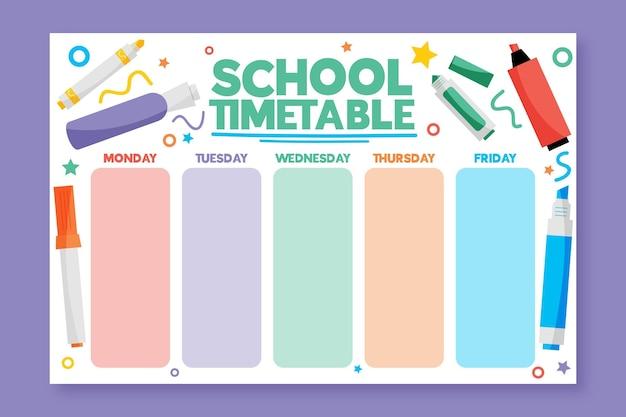 Disegnati a mano all'orario scolastico