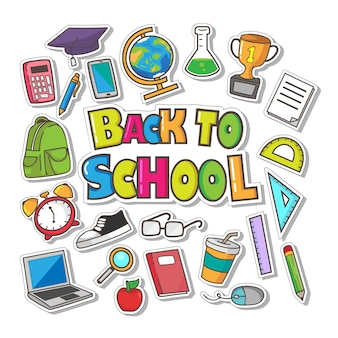 Hand drawn back to school vector collection
