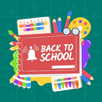 Hand-drawn back to school wallpaper