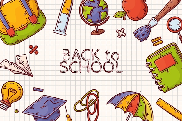 Hand drawn back to school wallpaper
