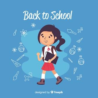 Рисованной обратно в школу