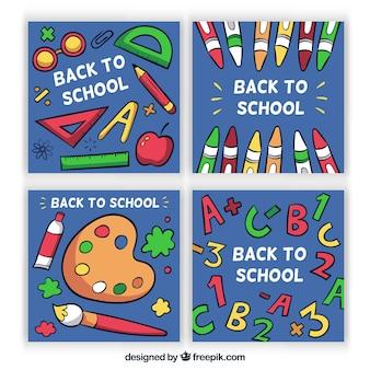 학교 카드 컬렉션을 다시 손으로 그린