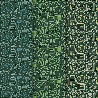 学校パターンコレクションに描かれた手