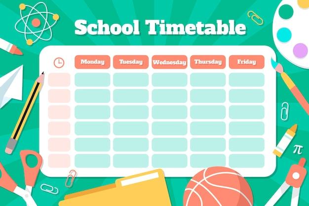 학교 시간표로 다시 그린 손
