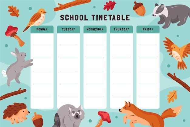 Рисованной обратно в школьное расписание