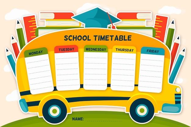 Ручной обращается обратно в школьное расписание