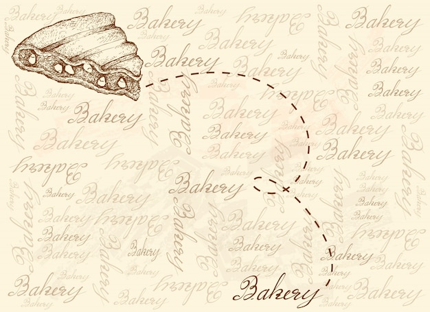 Hand drawn background of grilled rajma corn sandwich