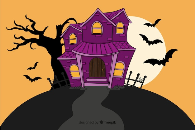 Hand drawn background for halloween