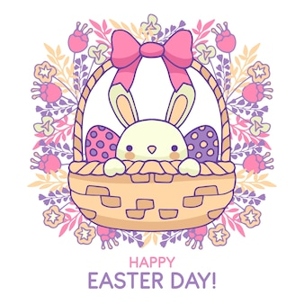 Hand drawn backgroundhappy easter day