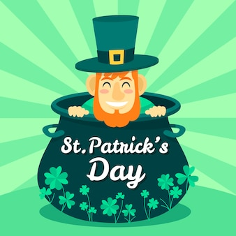 Hand drawn background st. patrick's day