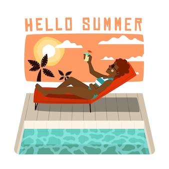 Ручной обращается фон лето