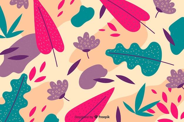 Ручной обращается фон с цветами