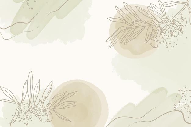 Sfondo disegnato a mano con foglie