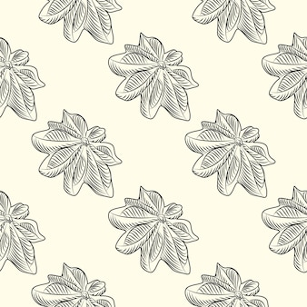 손으로 그린된 badian 완벽 한 패턴입니다. 마른 아니스 배경. 빈티지 스타일 조각. 벡터 일러스트 레이 션