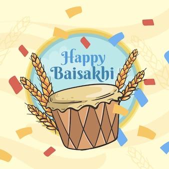 Illustrazione di baisakhi disegnata a mano