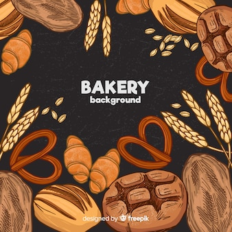 Hand drawn bakery background