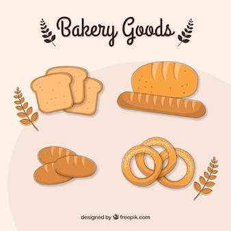 Hand drawn baking goods