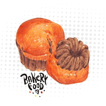 Hand drawn baking